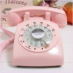 Rotary dial Telephone...we have one like this, turquoise, in our bedroom...granddaughter LOVES to use it to call her mother.