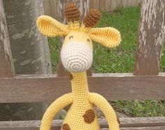 Gerry the Giraffe- Handmade Crochet Stuffed Toy Giraffe