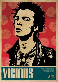 Sid Vicious Sex Pistols Punk Poster