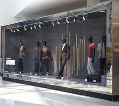 """MARKS&SPENCER, London, UK, """"A/W Collection with the focus on the craftmanship and quality behind its garments"""", display by Harlequin Design, pinned by Ton van der Veer"""