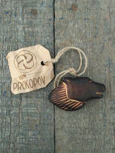 Wolf wood pendant