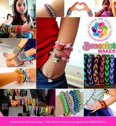 Amazon.com: Arts and Crafts For Girls - Best Birthday Gifts/Toys/DIY Kit For Girls/Boys Above 6 Year Old - Premium Bracelet(Jewelry) Making Kit aka Friendship Bracelet Maker/Craft Kits With Loom, Rubber Bands, Clips & Manual Included - Arts/Crafts Bracelets Kit/Toy by Mazichands: Toys & Games