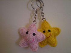 Amigurumis Pequeños Para Llaveros : Llavero estrella ganchillo llaveros crochet