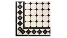 Klinker för bad & kök, kjøkken / køkken, Viktorianska golvklinkers Octagon på nät. - gamlamejeriet