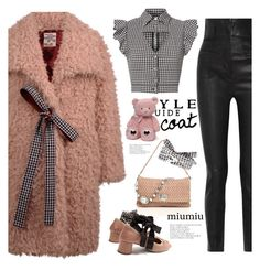 """teddy bear coat"" by katymill ❤ liked on Polyvore featuring Baum und Pferdgarten, Haider Ackermann, Miu Miu, Marissa Webb, Gund, miumiu and teddybearcoat"