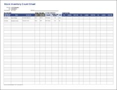 Inventory Control Template   Free Stock Inventory Control Spreadsheet  Inventory Sheets Printable