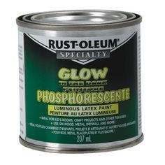 out door glow in the dark paint   Home Hardware - 207mL Glow in the Dark Latex Paint