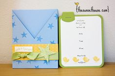 criss cross shower invite