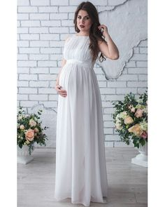Maternity Dress Autumn Maternity Party Dress Maternity Dress Solid High Split Design For Graceful Mom Love it? Visit our store