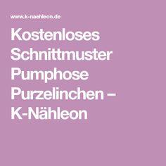 Kostenloses Schnittmuster Pumphose Purzelinchen – K-Nähleon