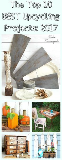 Sadie Seasongoods is your go-to blog for upcycling and repurposing DIY craft project inspiration! From thrift store transformation, to repurposed vintage items, to reusing something that you might otherwise toss in the trash, she is full of clever upcycle and repurpose ideas! These are her most popular tutorials and projects of 2017 using thrift store finds and vintage treasures; get all the DIY details at Sadie Seasongoods / www.sadieseasongoods.com .