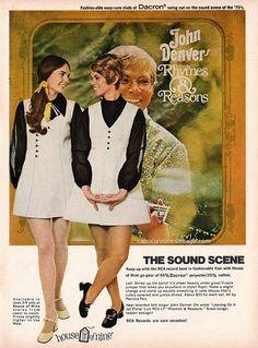1970 teen magazine rca records fashion promo with john denver