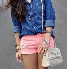 Chaqueta de jean  Short rosado