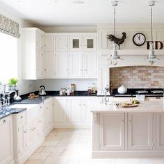 White hand-painted kitchen | White kitchens | PHOTO GALLERY | Beautiful Kitchens | Housetohome.co.uk