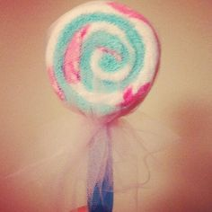 "CUTE GIFT! ""lollipops"" they are actually made out of a baby spoon and washcloths! adorable!!"