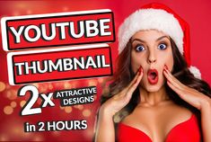 I will create professional and eye-catching thumbnails for your channel in 2 hours. I can do ANY style of thumbnail you get: ▪️ Pro Design Quality ▪️ extremely Quick and Fast. ▪️ 2 Hours Delivery ▪️ Just 1hr Responsiveness! ▪️ Money back guarantee if not satisfied! ▪️ I'm available at almost any time. ▪️ Friendly Communication :) ▪️ Different Design ▪️ Unlimited revisions ▪️ 100% Satisfaction Guarantee ▪️ My thumbnails are always in Full HD High Quality :) Free Thumbnail Maker, Thumbnail Design, Youtube Tips, Youtube Quotes, Youtube Logo, Youtube Banner Backgrounds, Youtube Banners
