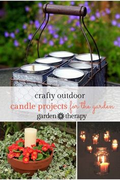 Crafty outdoor candle projects for the garden. Let your summer evenings shine!