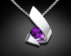 amethyst+pendant+necklace++February+by+VerbenaPlaceJewelry+on+Etsy,+$131.00