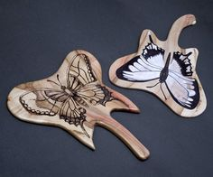 butterflies on maple Bookbinding, Spoon Rest, Butterflies, Tableware, Dinnerware, Dishes, Butterfly, Bowties, Place Settings