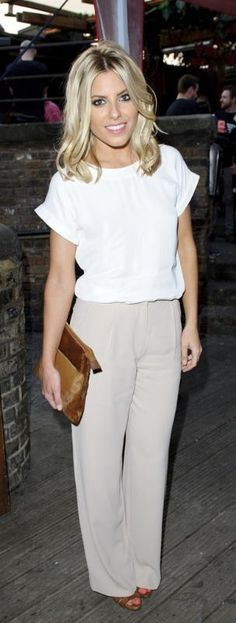 Mollie+King in The British Heart Foundation Party in London white on white