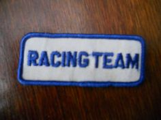 racing team  iron on patch by Silly67 on Etsy, €4.00