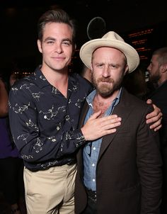 Chris Pine and Ben Foster attend the after party for a Screening Of CBS Films' 'Hell Or High Water' on August 10 2016 in Hollywood California
