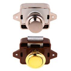 $3.99   Push Button Catch Lock Latch Knob For Rv Caravan Motorhome Home Cupboard  Drawer #