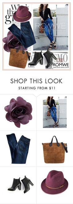 """""""WIN A ROMWE BLACK LACE UP BLOUSE"""" by car69 ❤ liked on Polyvore featuring Accessorize, 7 For All Mankind, MANGO and SWEET MANGO"""