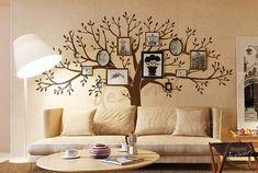 Etiqueta engomada de la pared de la pared del árbol de etiquetas de la pared del salón