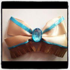Pocahontas inspired hair bow ribbon by 500daysofdisney on Etsy, $8.50