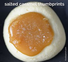 Salted Caramel Thumbprints Cookies Recipe from addapinch.com