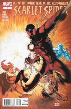 Second Master , Part Three --Written By Christopher Yost , Art Khoi Pham , Cover Art Ryan Stegman ,What has Roxxon's greed brought down upon Houston? Mammon has been unleashed, and Scarlet Spider and