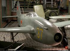 The Yak-15 (Feather) was one of the first Soviet jet fighter aircraft to be tested and go into production. It was one of very few jets to be successfully converted from a piston-powered production aircraft (Yak-3). A Yak-15 was also the first Soviet jet aircraft to be successfully refueled inflight. On 1 May 1947 the May Day Parade over Red Square included flypast of 100 jet fighters, half Yak-15s and half MiG-9s. Only one copy Yak-15 stored has remained.