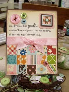 Mish Mash card. this would be cute with my Helen Keller quote stamp.