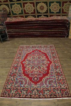 Captivating Design Handmade Qum Kerman Persian Area Rug Oriental Carpet 6ʹ5x10ʹ5