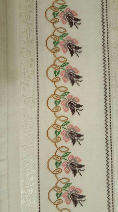 Cross Stitch Cushion, Small Cross Stitch, Cross Stitch Borders, Cross Stitch Flowers, Cross Stitch Designs, Cross Stitch Patterns, Sewing Stitches, Baby Knitting Patterns, Embroidery Stitches