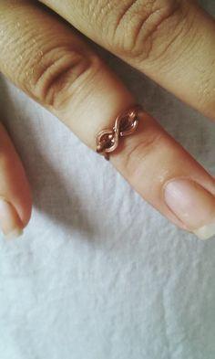 Anel símbolo do infinito em cobre