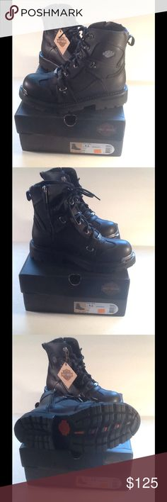 Women's Harley-Davidson Thea Riding Boots Awesome women's Harley-Davidson riding boots. New with tags and box. Style name is Thea. Size 9.5. Lace up and zipper. Harley-Davidson Shoes Lace Up Boots