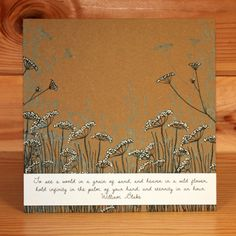 CS190D Janie's Wildflowers A5 stamp set designed by Janie Burnett-Bleach for Hobby Art Stamps. Card by Becki Mayes