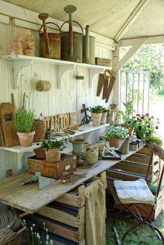 Lovely work space garden, lawn, plants, flowers