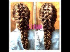 5 STRAND DUTCH BRAID HAIR TUTORIAL - MEDIUM LONG HAIR  Follow or Friend me I'm always posting awesome stuff: http://www.facebook.com/tennie.keirn