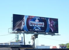 Captain America: Civil War Scarlet Witch vs Vision billboard