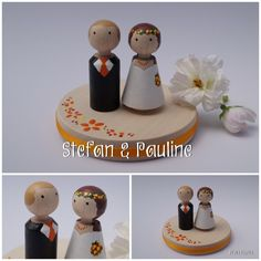 Pauline und Stefan Hochzeitspaar personalisiert von perlenspiel.de