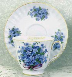 Flower of the Month Porcelain Tea Cup Teacup September