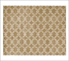 Scroll Tile Rug - Mocha (also available in grey) #potterybarn $150-720  Great for dining room!
