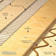 tiling over an old, solid wood subfloor is dicey, even with a layer of backer board.  avoid tile and grout cracks in the finished floor with proper preparation and lots and lots of screws.