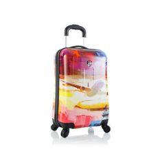 """Heys Cruise Luggage 21"""" Carry-on Suitcase Fashion Hardcase Patterned Spinner"""