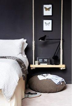 Pimp your bedroom: Ungewöhnliche DIY Nachttische für dein Schlafzimmer