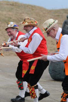 Morris Dancers at South Tyneside Littlehaven promenade opening South Shields.