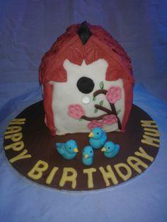 birdhouse cake
